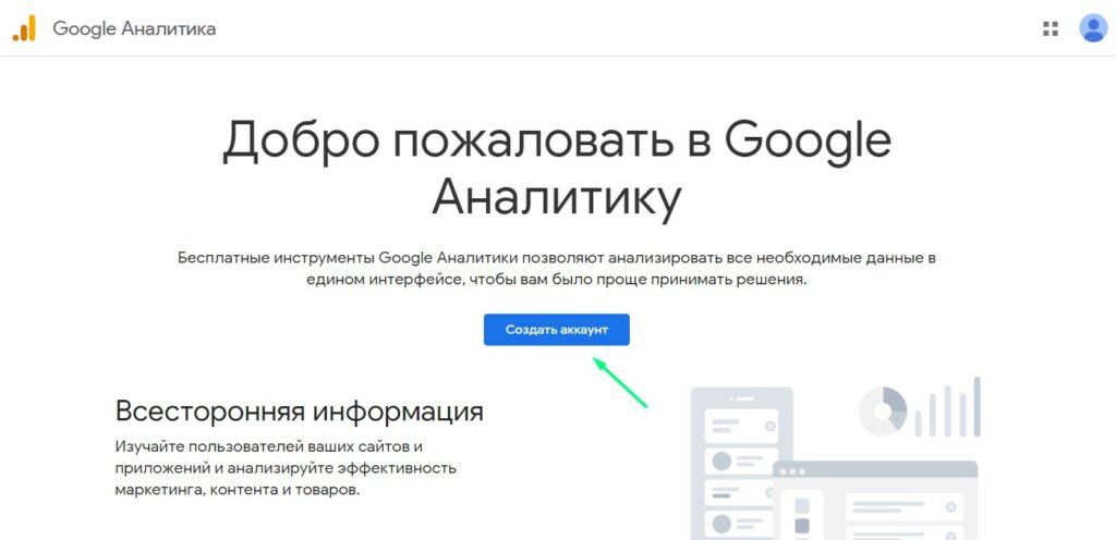 Начало работы с Гугл Аналитик